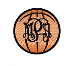 Applique Basketball Monogram Frame